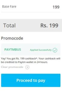 Paytm Bus Booking Offer