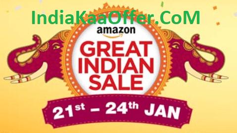 Amazon Great Indian Festival Sale 21-24 JAN 2018