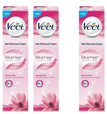 Veet Hair Removal Cream 100g Buy 2 Get 1 Free At Rs. 370 - Amazon
