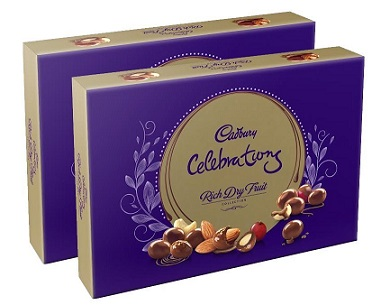 Cadbury Rich Dry Fruit Collection 120g (Pack of 2) At Rs 275+ Rs 50 Cashback - Amazon