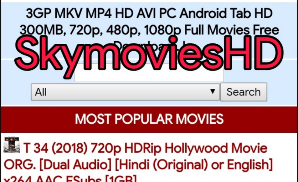 SkymoviesHD 2020 : Bollywood, Hollywood, South Hindi Dubbed Movies Download