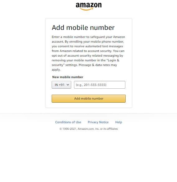 Amazon account verification