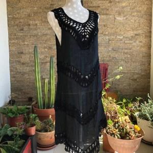 Vestido Crochet Black