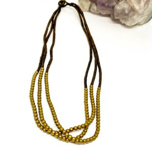 Collar Macramé Brass