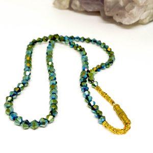 Collar Cristales Verde