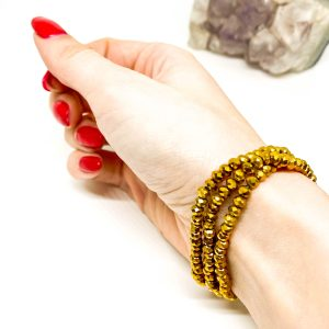 Collar Cristales Dorado