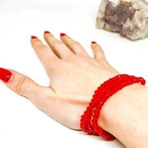Collar Cristales Rojo