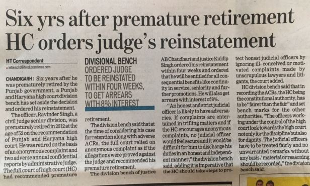 High Court Reinstatement Matters