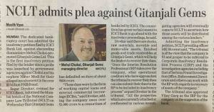 Insolvency Against Gitanjali Gems