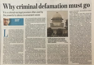Criminal Defamation