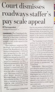 Payscale Appeal Dismissed
