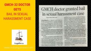 GMCH-32 Doctor gets Bail in Sexual Harassment Case