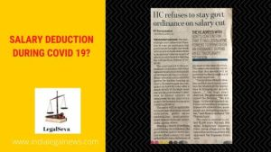 SALARY DEDUCTION DURING COVID 19?