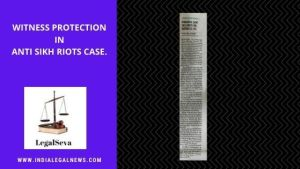 Witness Protection Scheme High Court India