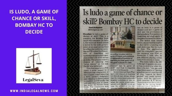 Is Ludo, a game of chance or skill, Bombay HC to decide