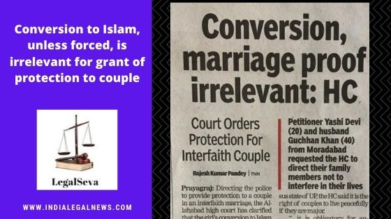 Grant of Protection to Muslim Couple by High Court