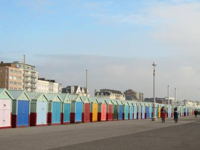 Hundreds of these bijou huts line the seafront...at £30k a pop, netting Brighton council a tidy little purse!