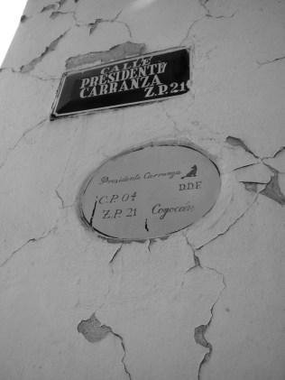 Street Sign Coyoacan