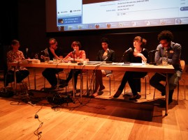 Panel 2: Dialogue as a curatorial/artistic process. Katarina Zdjelar, Bisan Abu Eisheh, Mirna Bamieh and Fucking Good Art. Chair: Viviana Checchia & Alexandra Ross