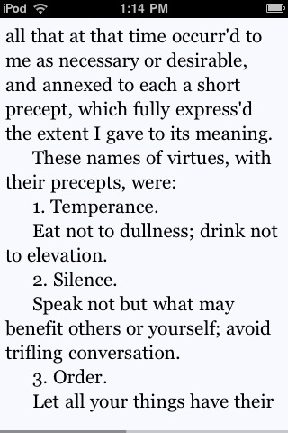text in Stanza iPhone app