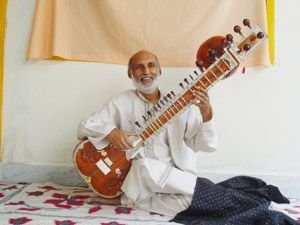 Pradeep plays Sitar