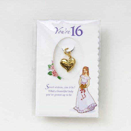 Growing Up Girls Age 16 Charm package