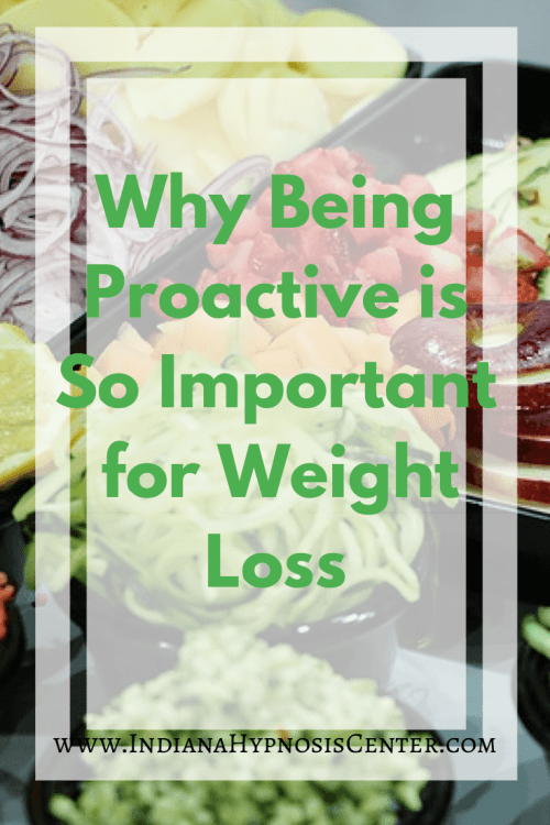 Why Being Proactive is So Important for Weight Loss