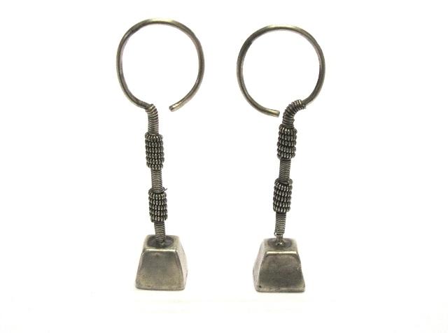 Vintage Rabari Earrings, Vaghadia Rabari Vedhla Earrings,10.8 Grams (0.38oz.)