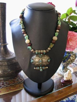 Antique Tibetan Gau Box Necklace