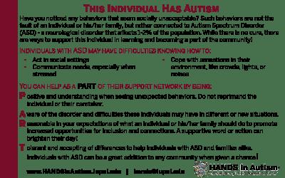 This Individual has Autism