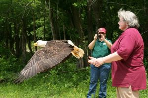 Kaylee and Laura at a Bald Eagle release