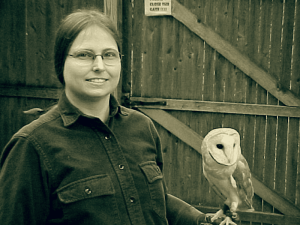 KayLee Witt with Oberon the Barn Owl