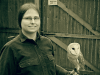 KayLee Witt with Oberon the Barn Owl