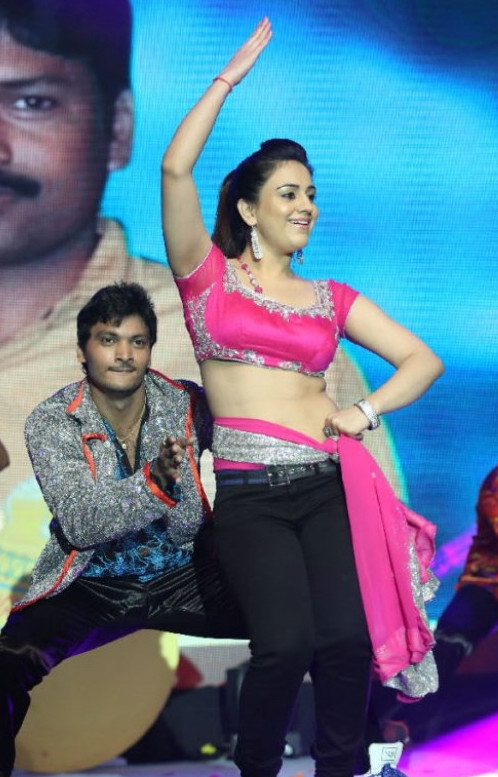 Actress Aksha Dance Hot Stills @ Aadu Magadura Bujji Audio Release