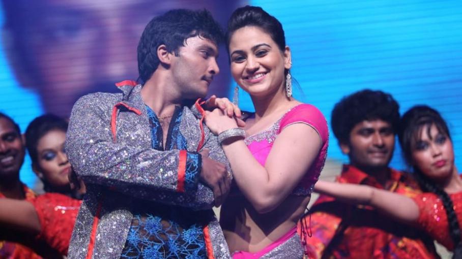 Aksha Pardasany Dance Hot Stills @ Aadu Magadura Bujji Audio Release