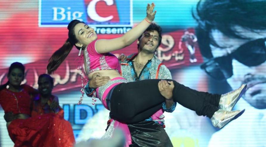 Aksha Pardasany Dance Hot Stills @ Aadu Magadura Bujji Audio Launch