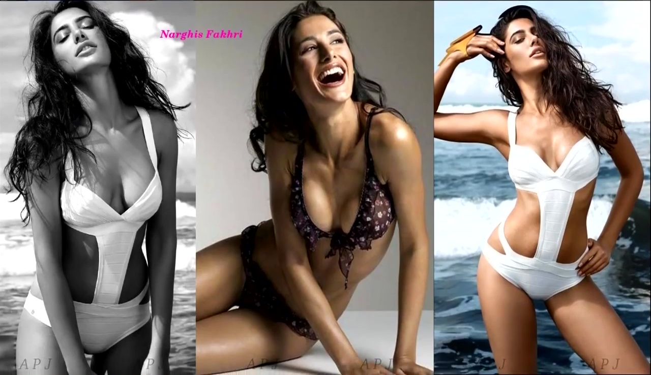 Narghis fakhri Bollywood Actress Hot Bikini Photo 26