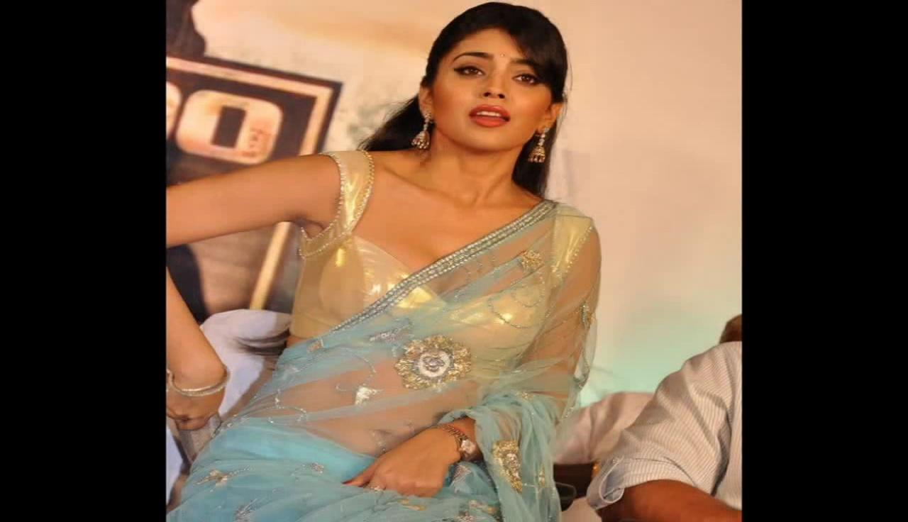 Shriya Saran kollywood event Hot Transparent Saree pics