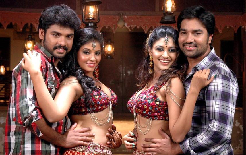 Oviya and Anjali Tamil movie Hot Item song caps