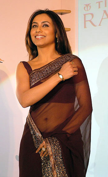 Rani Mukherjee_022_BWEvent Brown TSaree