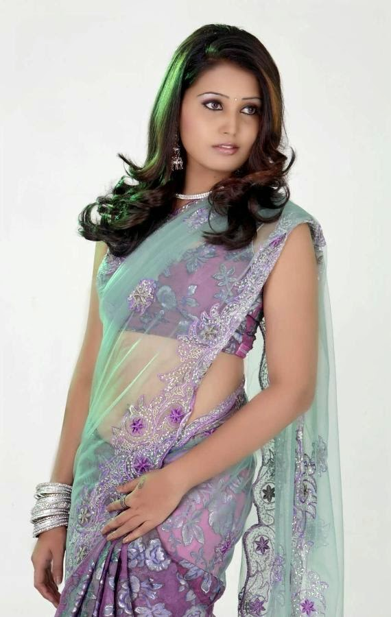 Sandra Amy Saree Photoshoot_005