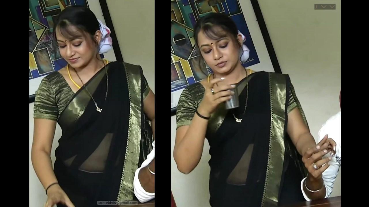 Sreeja_Bommalattam_017_TSaree Navel