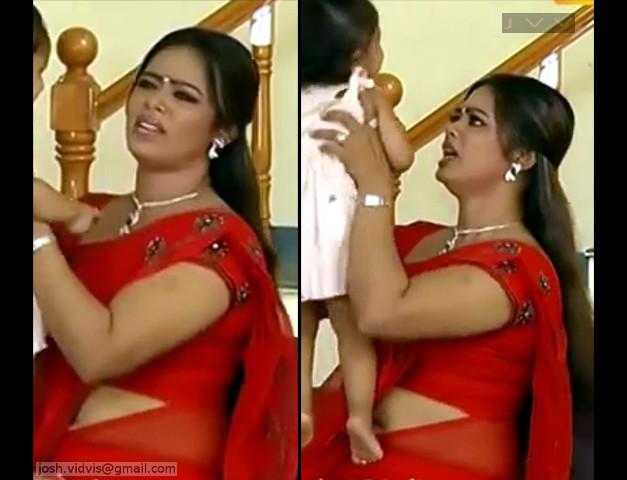 DeviPriya_Tamil TV Actress_05_hot saree navel