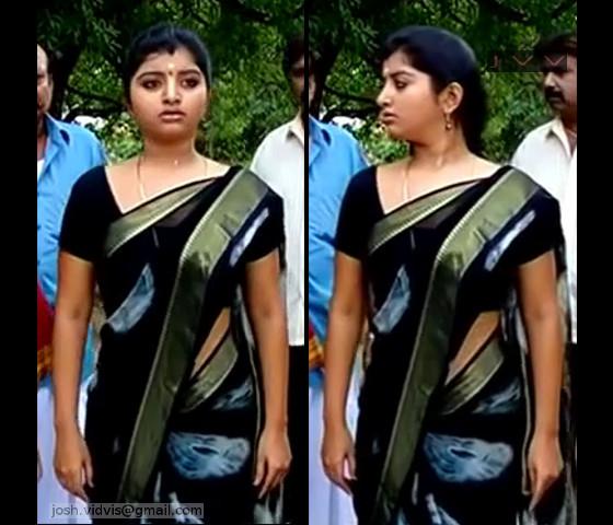 Mahalakshmi_Tamil TV Actress04_Hot saree caps