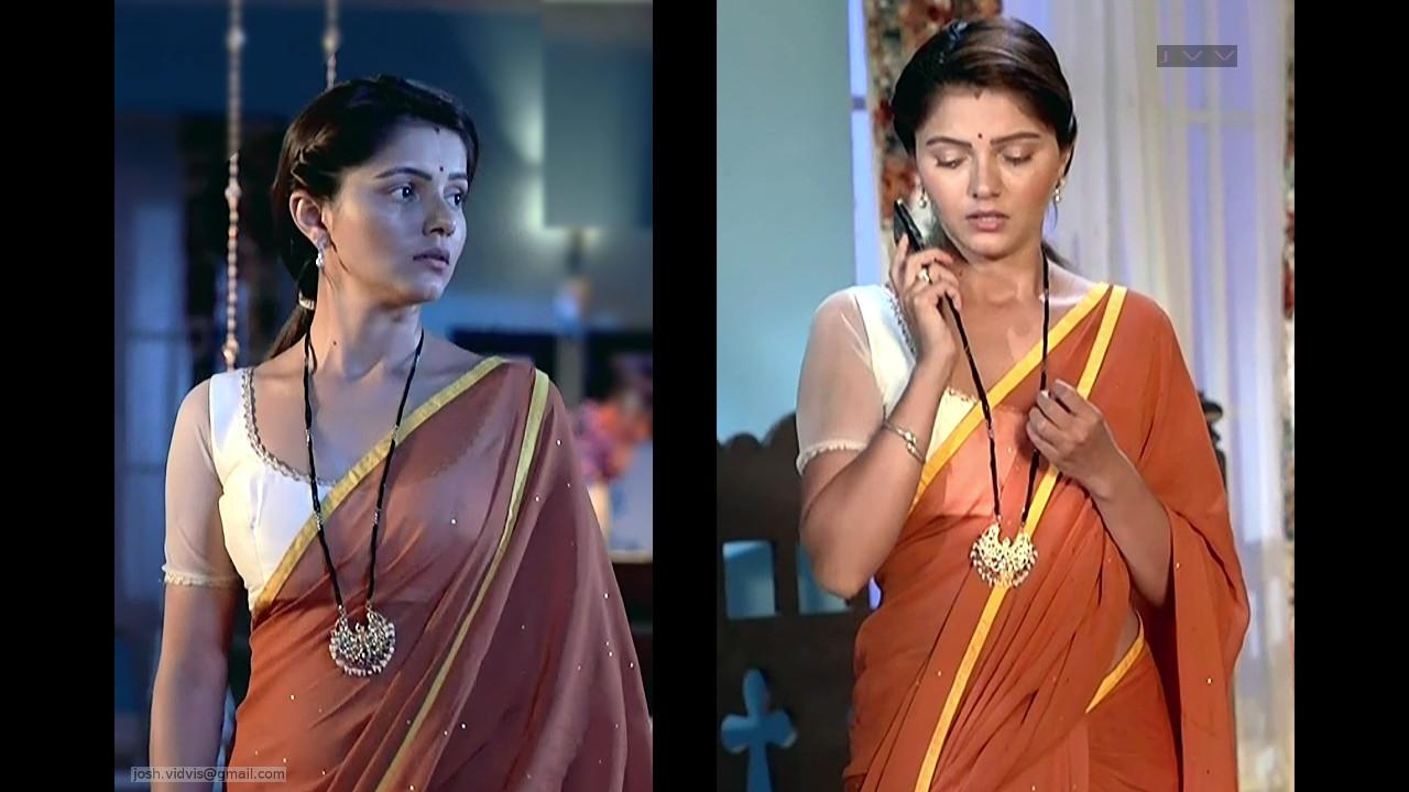 Rubina Dilaik_Hindi TV Actress_05_Hot Saree Pics