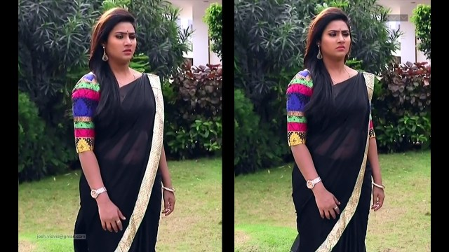 Nandhini_Tamil TV Actress04_Saree Caps
