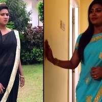 Myna Nandhini Tamil Serial Actress sari navel show