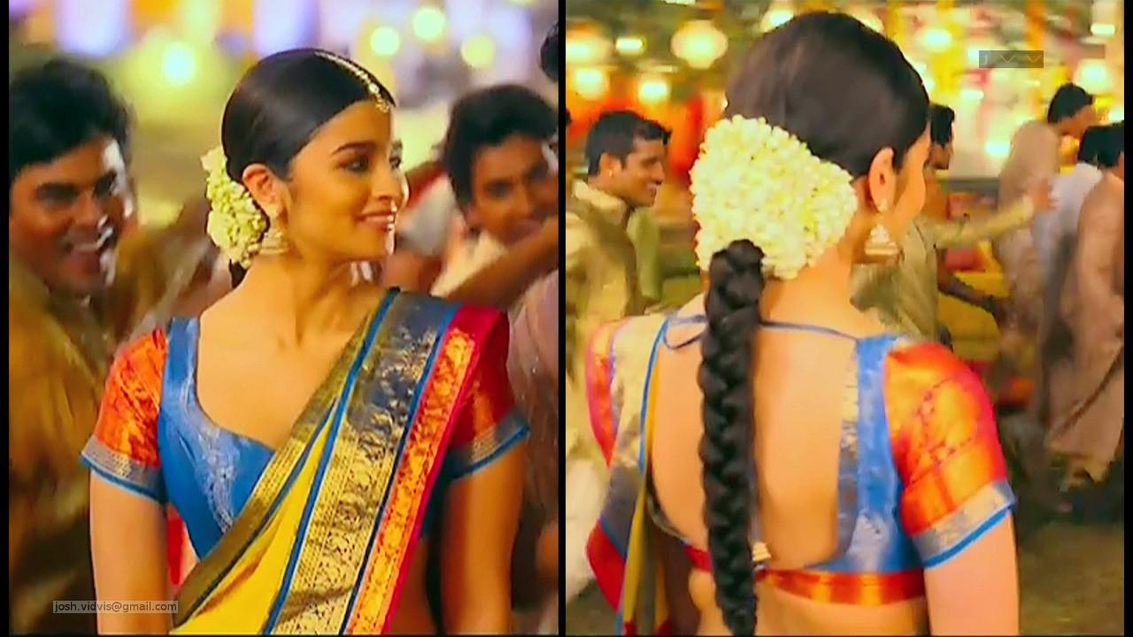Alia Bhat_Bollywood Actress_02_Saree song Stills