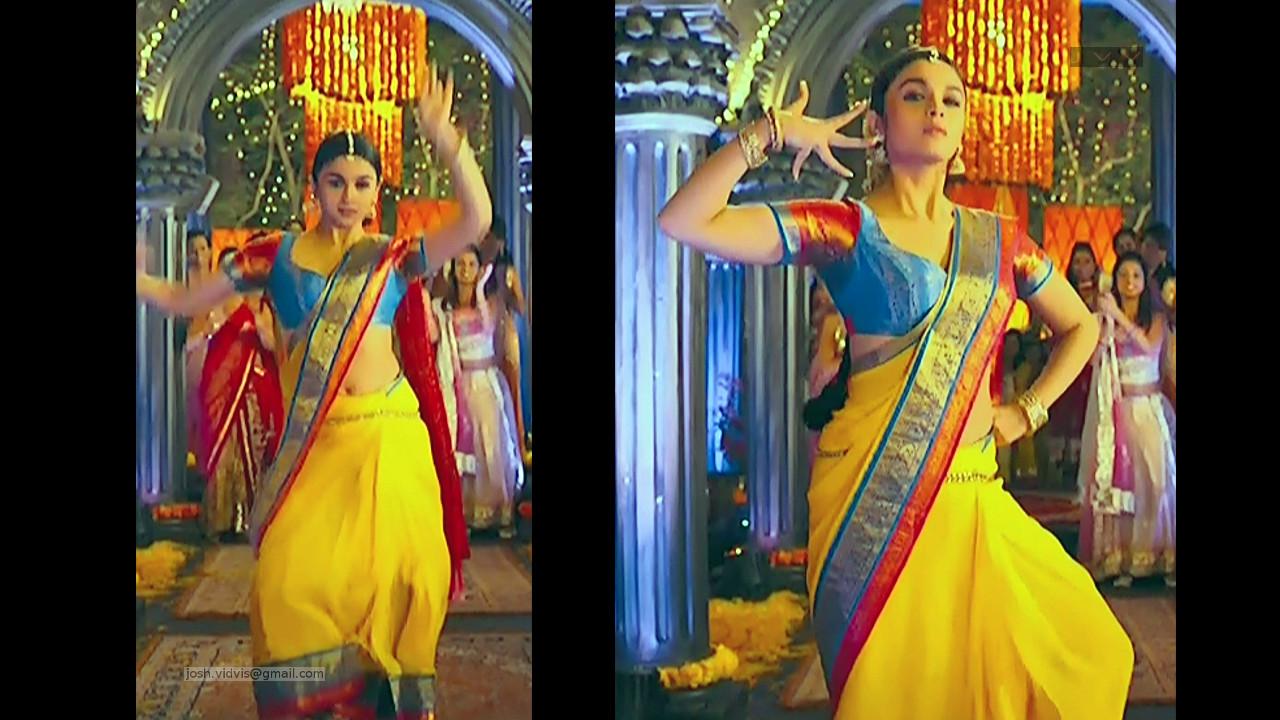 Alia Bhat_Bollywood Actress_04_Saree song Stills