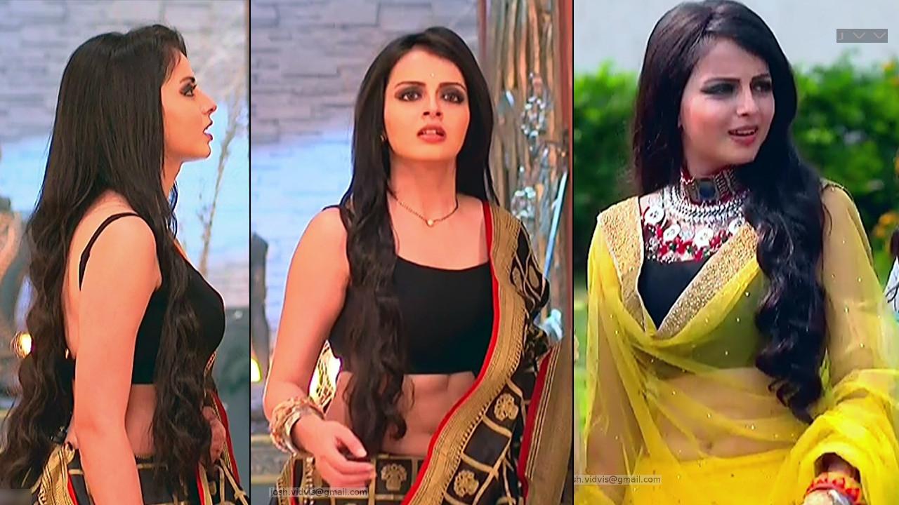Shrenu parikh navel show in lehenga choli tv hd caps